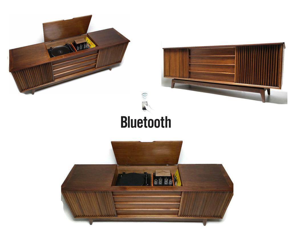 **SOLD OUT** VintedgeCo™ - TURNTABLE READY SERIES™ - ADMIRAL Console Cabinet & Speakers - UPGRADE Components AVAILABLE