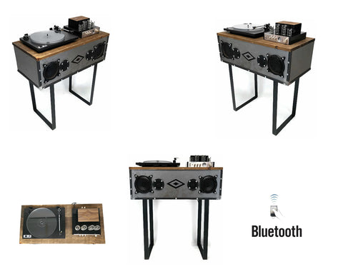 **NOW AVAILABLE** Mini-PREMIER™ VintedgeCo™ INDUSTRIAL Turntable Record Player Console Speaker