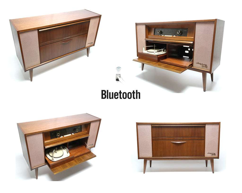 Mid Century Telefunken Selzburg 5094 Stereo Console Record Player - Bluetooth - AM/FM Tuner - Shortwave