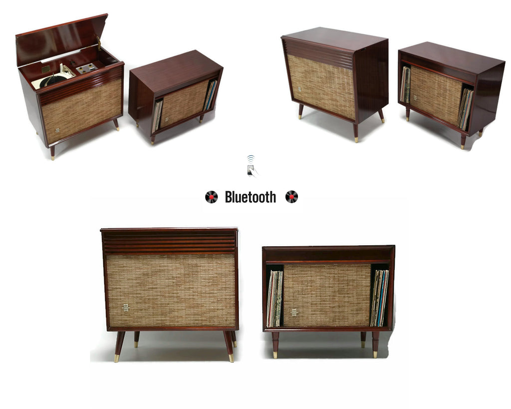 **NOW AVAILABLE** SILVERTONE 2-Piece Record Player Changer Stereo Console with Extension Speaker