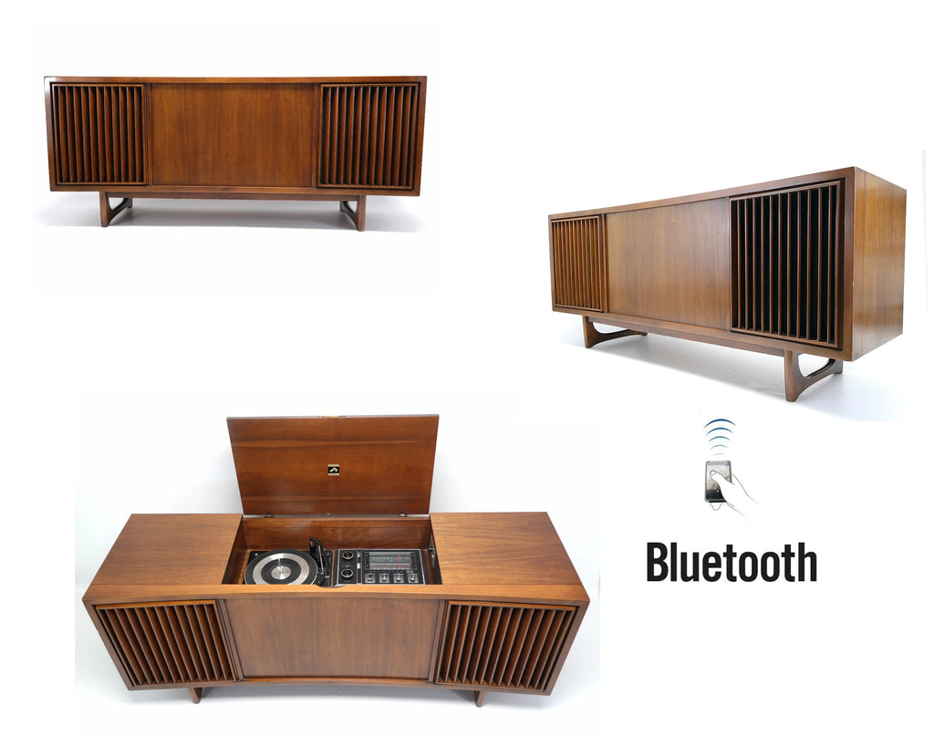 Mid Century Modern RCA STEREO CONSOLE- 60's - Mid Century RCA Record Player - Bluetooth - AM FM