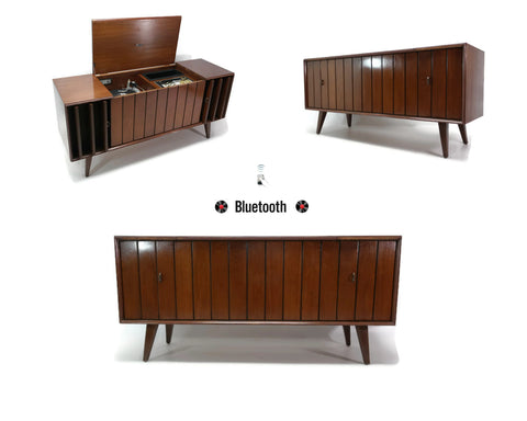 **SOLD OUT** ZENITH Mid Century Louver Door Record Player Changer Stereo Console