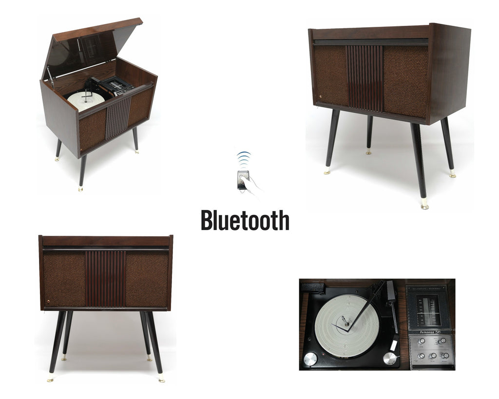 MCM STEREO - 60's Mid Century Delmonico Nivico Consolette Record Player - Bluetooth iPod iPhone Android Input AM/FM Tuner