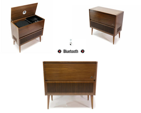 **SOLD OUT** The Vintedge Co™ - TURNTABLE READY SERIES™ - GRUNDIG 50s 60s Modern Turntable Record Player HiFi Console Cabinet
