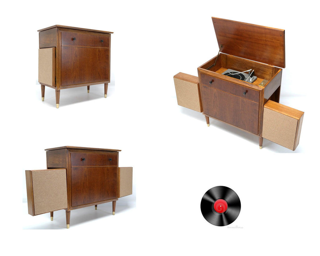 Mid Century Modern RCA Silvertone High Fidelity Record player
