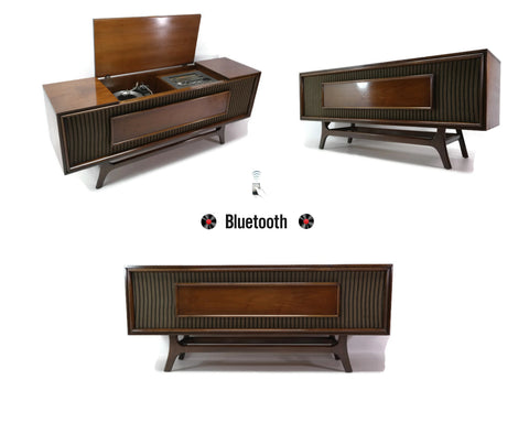 **NOW AVAILABLE** GE Long and Low Record Player Changer Stereo Console