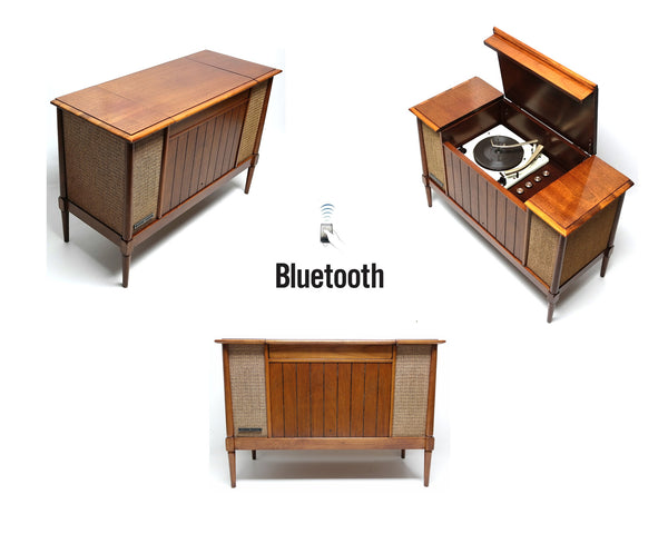 Mid Century Modern Stereo Console By Amc The Vintedge Co