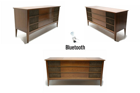 **NOW AVAILABLE** VintedgeCo™ - TURNTABLE READY SERIES™ - Mid Century Modern Vintage Stereo Console Wood Cabinet