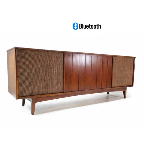 **SOLD OUT**  ADMIRAL Long and Low Vintage Record Player Changer Stereo Console - Bluetooth