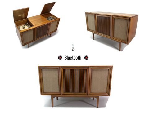 **SOLD OUT**  MOTOROLA 3-Channel Mid Century Record Player Changer Stereo Console