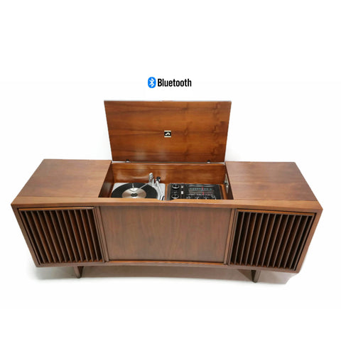 **SOLD OUT**  RCA Mid Century Curved Front Record Player Changer Stereo Console - Bluetooth