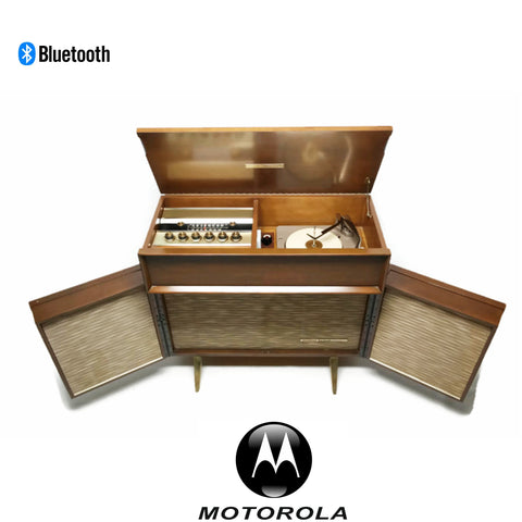 **NOW AVAILABLE** MOTOROLA 3-Channel Vintage Record Changer Player Stereo Console w/Flip-Out Speakers