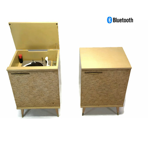 **SOLD OUT** RCA ORTHOPHONIC 2-Piece Blonde High Fidelity Record Player Changer + Speaker - Bluetooth