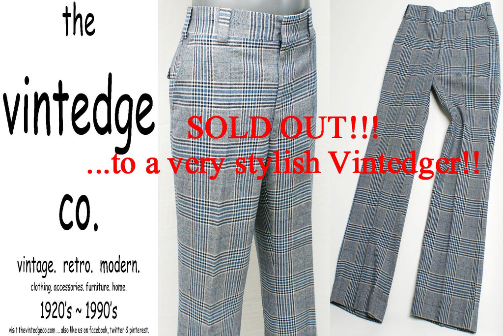SOLD - 1960's Mens Plaid Pants
