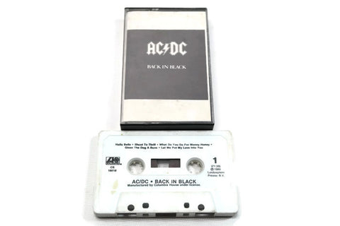 AC / DC - Vintage Cassette Tape - BACK IN BLACK