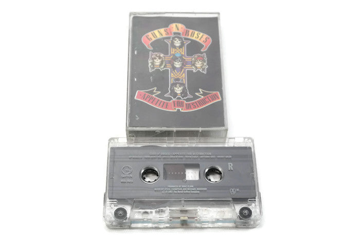 GUNS N' ROSES - Vintage Cassette Tape - APPETITE FOR DESTRUCTION