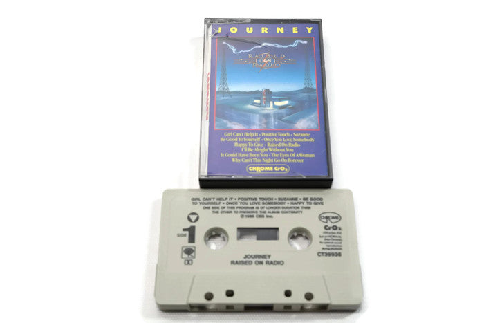 JOURNEY - Vintage Cassette Tape - RAISED ON RADIO