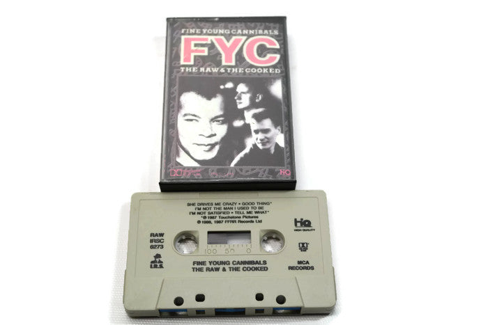 FINE YOUNG CANNIBALS - Vintage Cassette Tape - THE YOUNG & THE COOKED