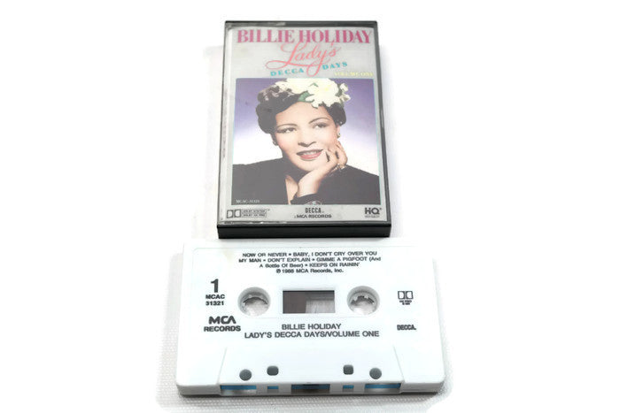 BILLIE HOLIDAY - Vintage Cassette Tape - LADY'S DECCA DAYS VOL. ONE