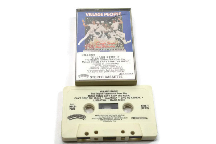VILLAGE PEOPLE / CAN'T STOP THE MUSIC - Vintage Cassette Tape - ORIGINAL MOTION PICTURE SOUNDTRACK