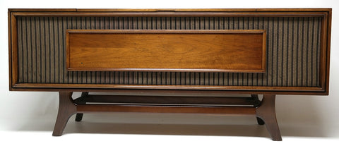 Mid Century GE Stereo Console  - Bluetooth -  AM/FM Tuner - Record Changer FULLY RESTORED
