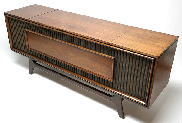 Mid Century Modern Stereo Console Record Player Restore