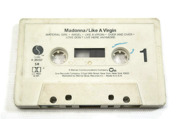 MADONNA - Vintage Cassette Tape - LIKE A VIRGIN