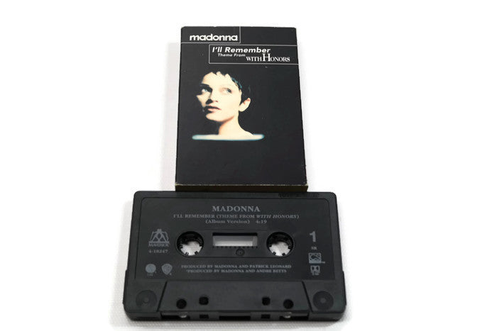 MADONNA - Vintage Cassette Tape - I'LL REMEMBER