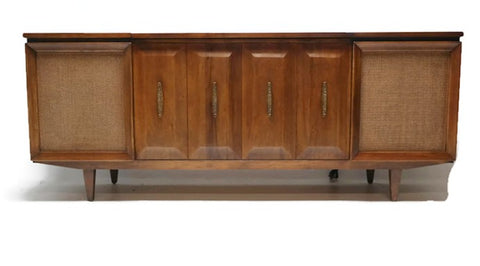 **SOLD OUT**  PHILCO Mid Century Vintage Record Player Changer Stereo Console - Bluetooth