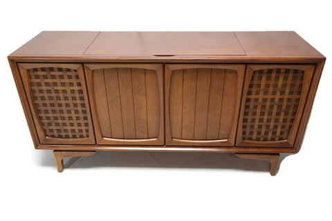 **SOLD OUT**  RCA Victor Victrola Mid Century Modern Stereo Console Record Player Changer AM FM  - Bluetooth
