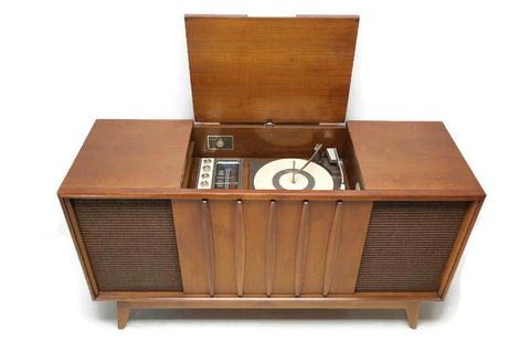 **SOLD OUT**  ADMIRAL Mid Century Record Player Changer Stereo Console AM FM  - Bluetooth