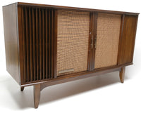 Mid Century Modern MOTOROLA Stereo Console Record Changer - Bluetooth - Tube Amplifer