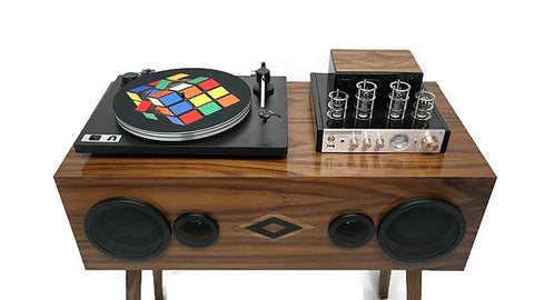 TURNTABLE SLIPMAT - Rubik's Cube - DJ - SLIP MAT - Records - Vinyl - Album - Mat