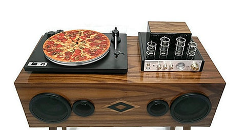 TURNTABLE SLIPMAT - FoodPorn Pizza - DJ - SLIP MAT - Records - Vinyl - Album