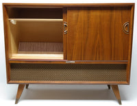 Mid Century grundig Stereo Console Record Player - Bluetooth - AM/FM Tuner - Shortwave
