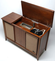 Mid Century Zenith Stereo Console Record Player Changer - Bluetooth -  AM/FM Tuner
