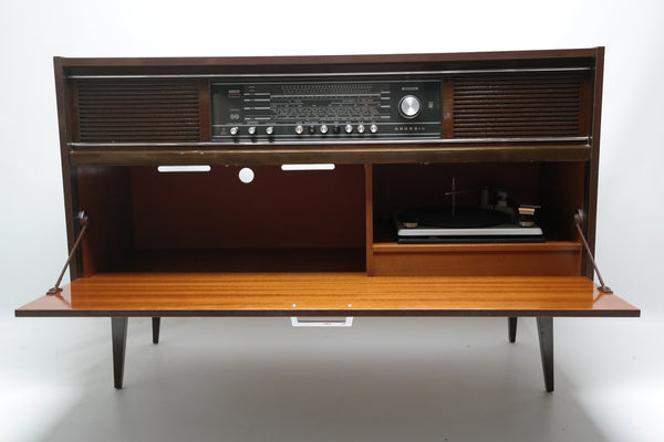 Sold 60 S Grundig Vintage Record Changer Stereo Console