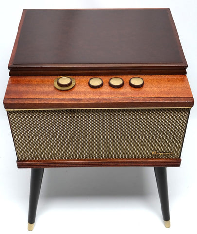 Mid Century Modern Magnavox Consolette Record Player Changer and bluetooth
