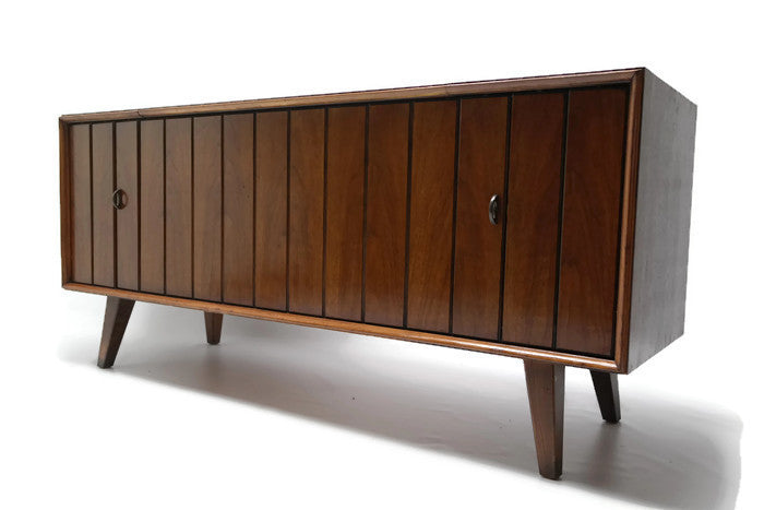 Vintedgeco Turntable Ready Series Zenith Louver Doors Console