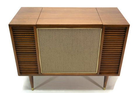 **SOLD OUT** The Vintedge Co™ - TURNTABLE-READY SERIES Mid Century Record Player Stereo Cabinet Console FM Bluetooth