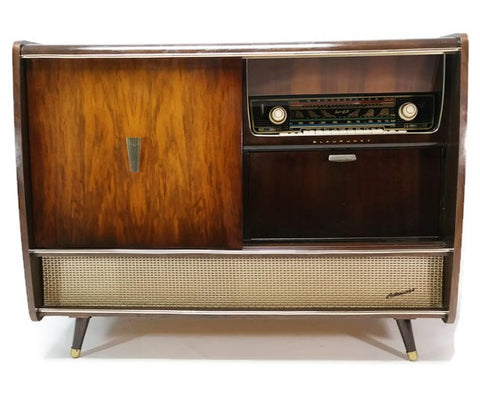 **SOLD OUT** BLAUPUNKT ARKANSAS Mid Century Record Changer Player Stereo Console w/Whiskey Bar