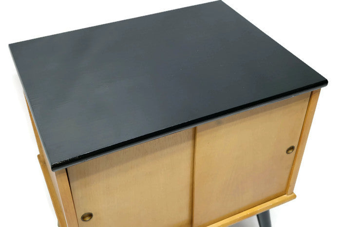 ... OUT**   Vintage Mid Century Record Storage Table Stand ...