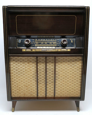 Mid Century Modern Hi Fi Grundig Console  Bluetooth - Record Changer - AM/FM/SW -Tube Amplifer