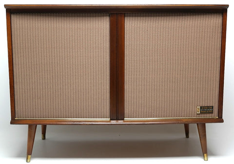 Mid Century Modern Stereo Zenith Console Record Changer - AM/FM - Bluetooth