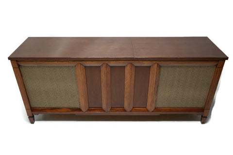 Mid Century Modern Philco Vintage Stereo Console - Record Player Changer - AM/FM Tuner - Bluetooth