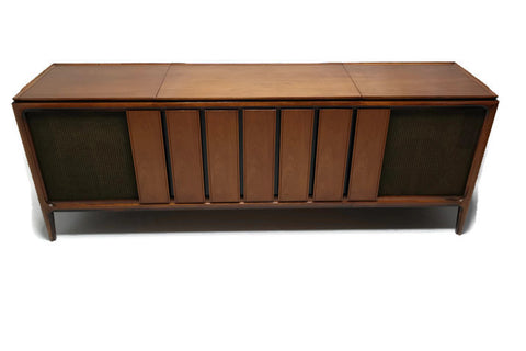 **COMING SOON**  ADMIRAL Vintage Long and Low Record Player Changer Stereo Console