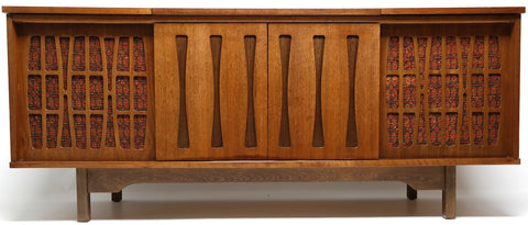 Mid Century Morse Stereo Console - Bluetooth -  AM/FM Tuner - Record Changer