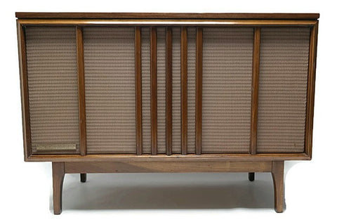 **COMING SOON**  MOTOROLA Mid Century Vintage Record Player Changer Stereo Console