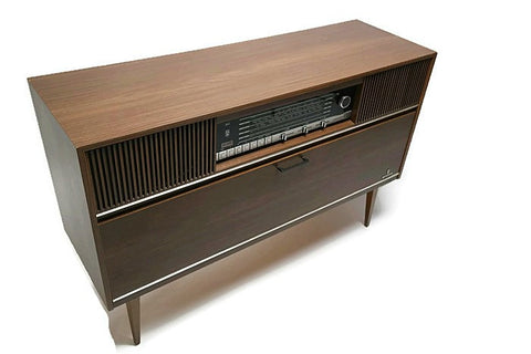 **COMING SOON** GRUNDIG European Mid Century Record Changer Player Stereo Console