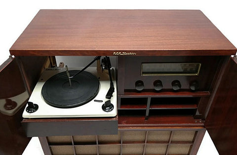 **NOW AVAILABLE**  RCA VICTOR 40s 50s Vintage Record Changer HiFi Console